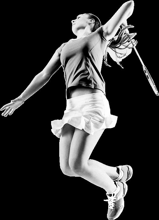 Joueuse de badminton